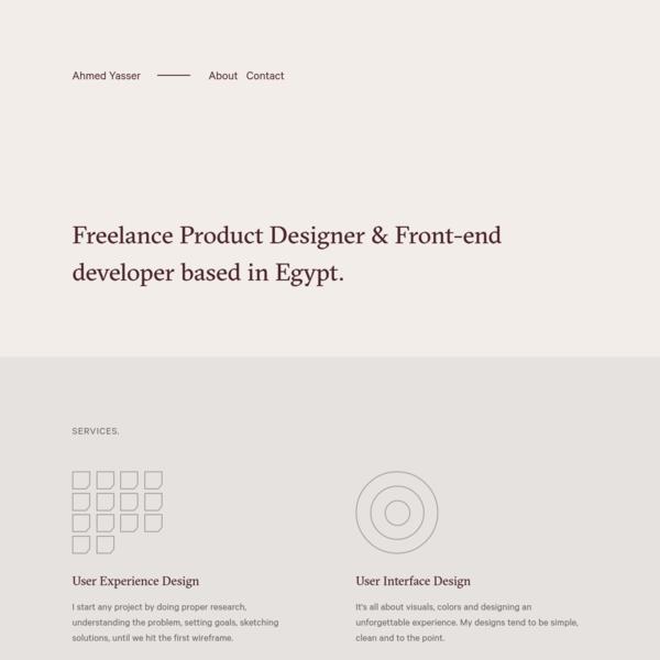 Ahmed Yasser - Product Designer, Developer