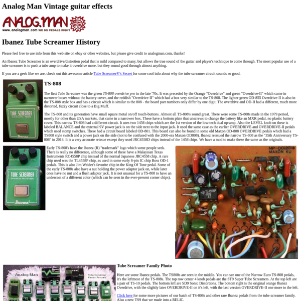 Are na / guitar pedals