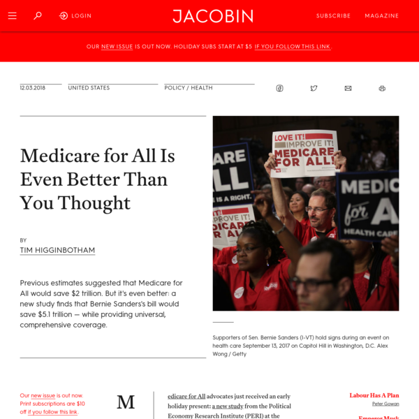 Medicare for All Is Even Better Than You Thought