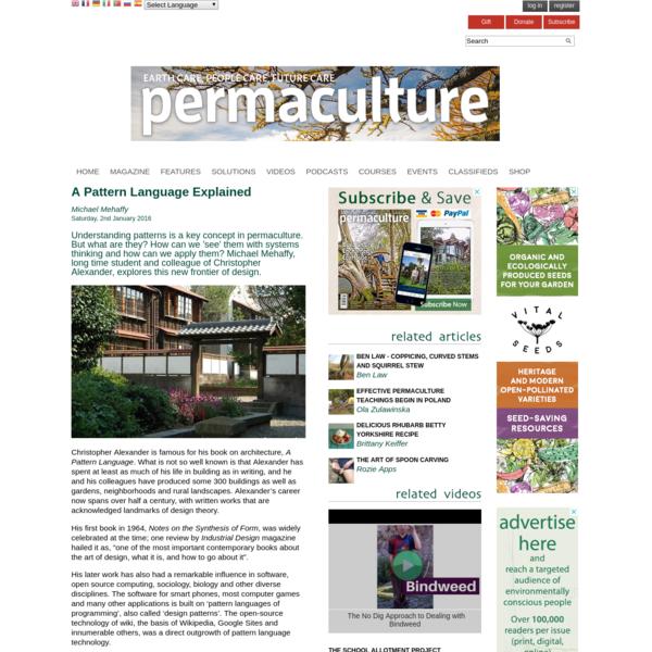 A Pattern Language Explained | Permaculture magazine