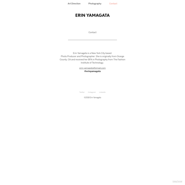 Contact - Erin Yamagata
