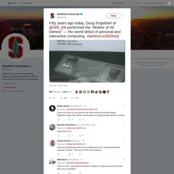 Stanford University on Twitter