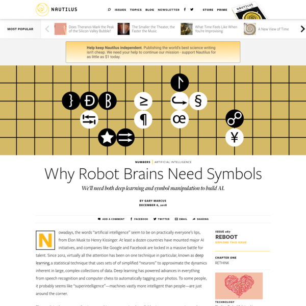 Why Robot Brains Need Symbols - Issue 67: Reboot - Nautilus