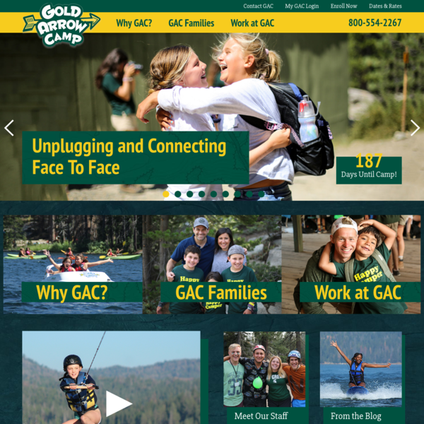 Gold Arrow Camp - California's Premiere Outdoor Mountain & Lake Summer Camp Program for School-Age Children. - Home Page