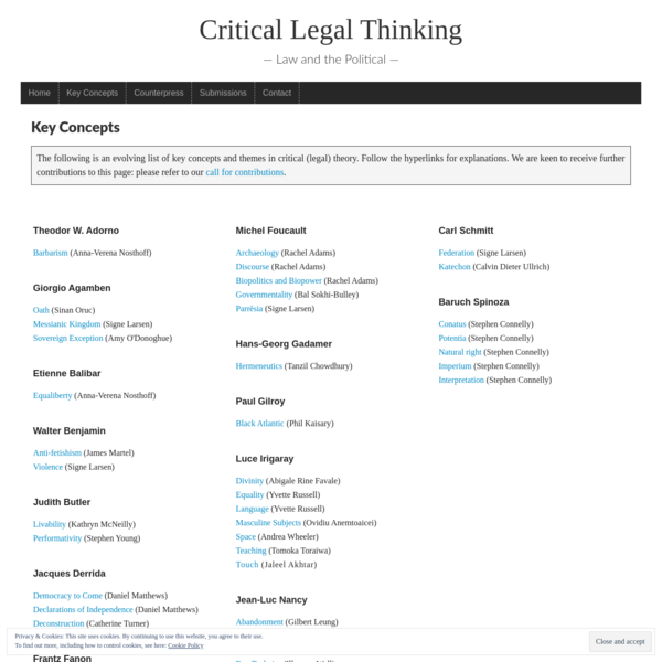 Key Concepts: Critical Legal Thinking