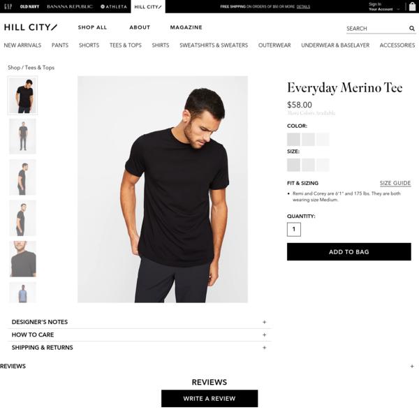 Everyday Merino Tee | Hill City