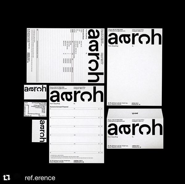 Corporate Identity for aarch by @jhohohohohoho via @ref.erence ➿➰➿➰➿
