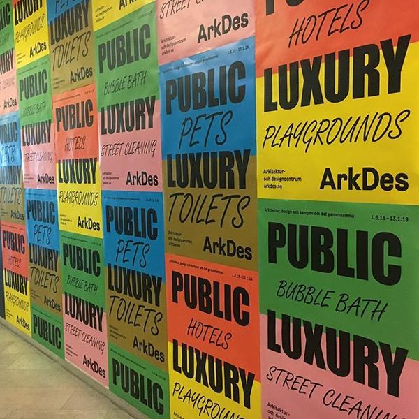 """Communication materials for the great new summer exhibition """"Public Luxury"""" at Arkdes. Opens today! Together with Europa. @a..."""