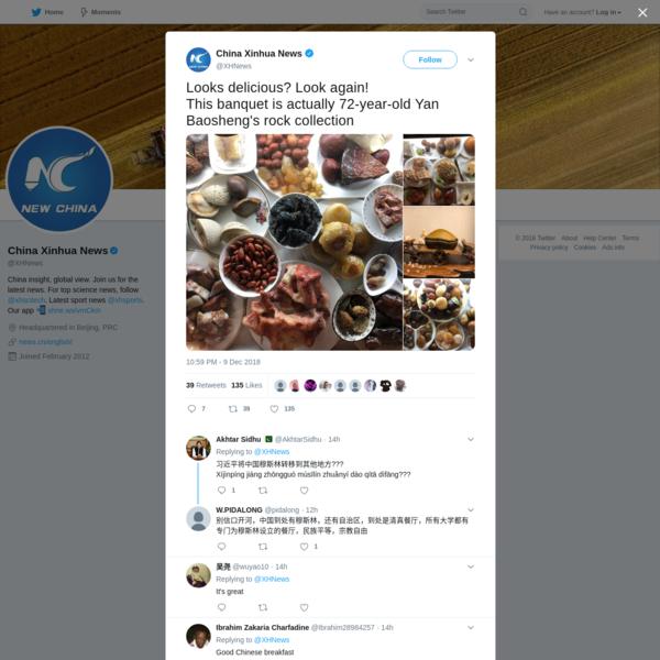 China Xinhua News on Twitter