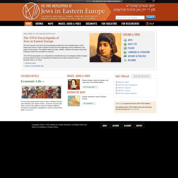 The YIVO Encyclopedia of Jews in Eastern Europe
