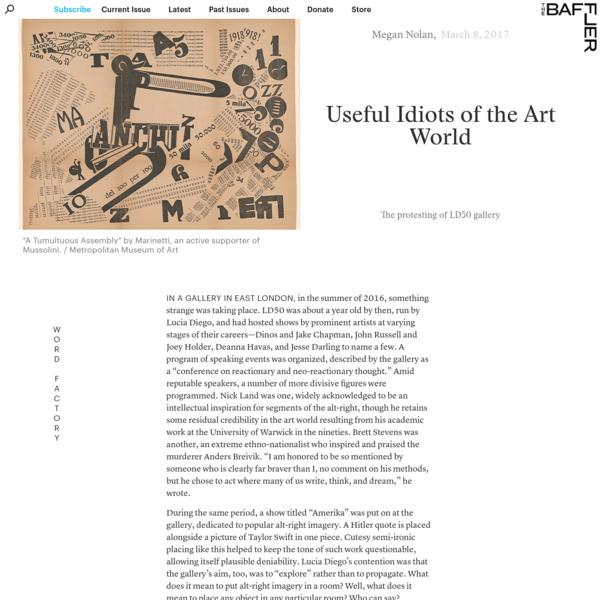 Useful Idiots of the Art World