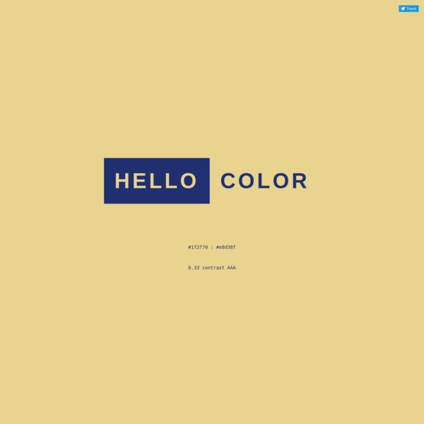 Functional color palette generator