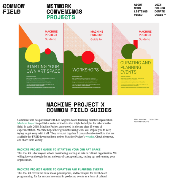 Machine Project x Common Field Guides / Common Field