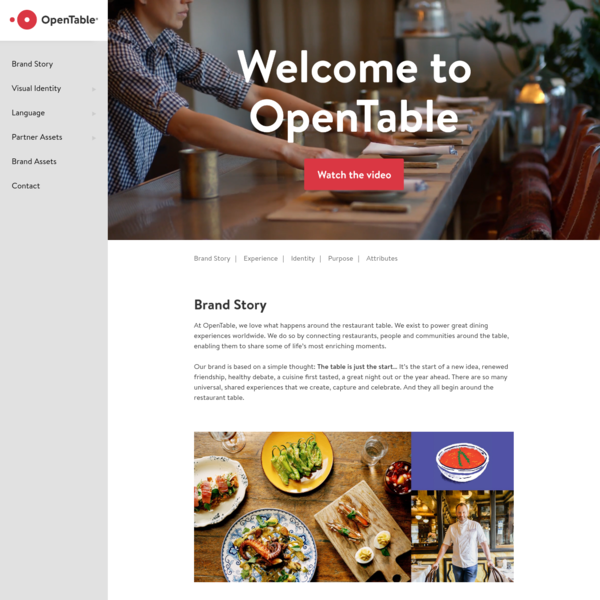 OpenTable Brand - Brand Site