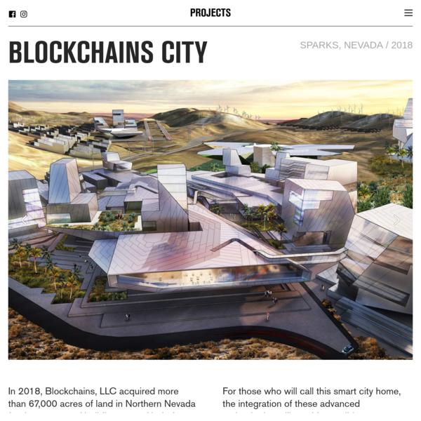 BLOCKCHAINS CITY - Tom Wiscombe Architecture