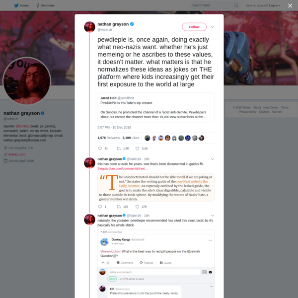 @Vahn16: the underlying tactic [of redpilling] is incredibly simple, but people continually fail to call it out or recognize it as such.