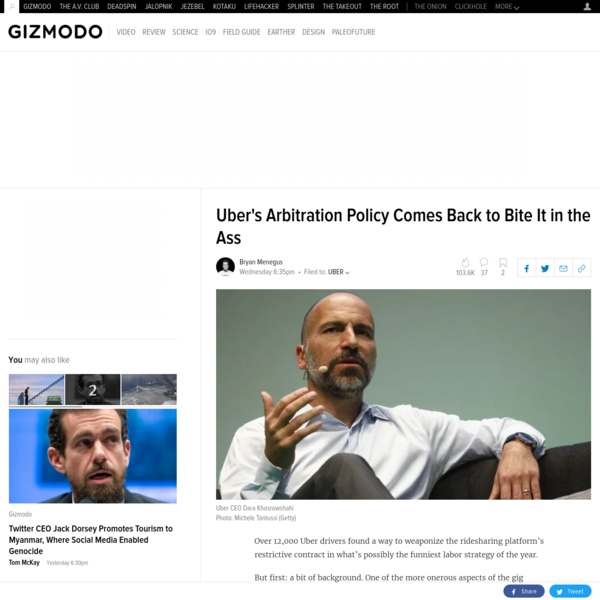 Over 12,000 Uber drivers found a way to weaponize the ridesharing platform's restrictive contract in what's possibly the funniest labor strategy of the year. But first: a bit of background. One of the more onerous aspects of the gig economy is its propensity to include arbitration agreements in the terms of service-you know, the very long document no one really reads-governing the rights of its workers.