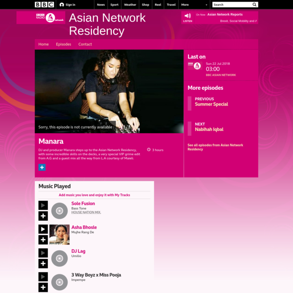 BBC Asian Network - Asian Network Residency, Manara