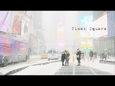 Snowstorm in Times Square, NYC. 4K G85 12-60mm kit.