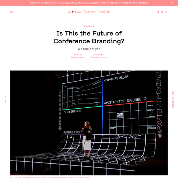 This year's Future Architect symposium at Russia's Strelka Institute boasted a more experimental and interactive identity than most. Visitors wielding the event's accompanying AR app would be greeted with pulsating information boards, as if conference branding had been reimagined through the lens o