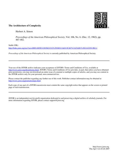 architectureofcomplexity.hsimon1962.pdf