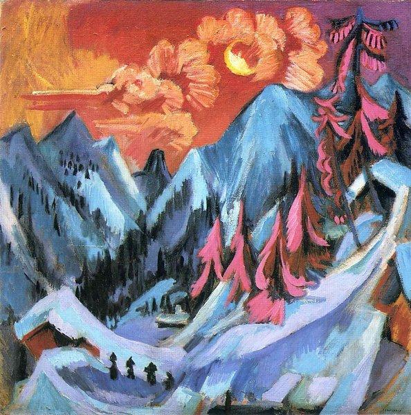 Ernst Ludwig Kirchner, Winter Landscape in Moonlight, 1919