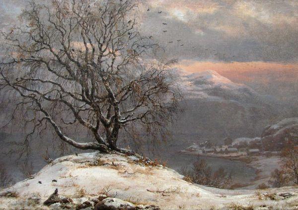 Johan Christian Claussen Dahl, Birch tree in winter, 1838