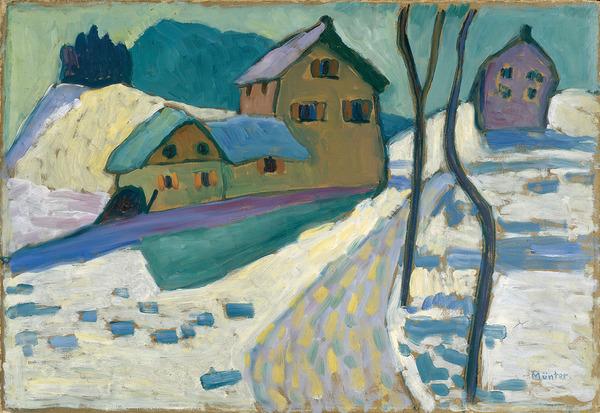 Gabriele Münter, Winterlandschaft, 1909
