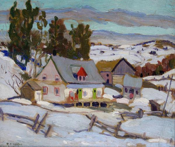 Randolph Hewton, Laurentian Homestead, 1938