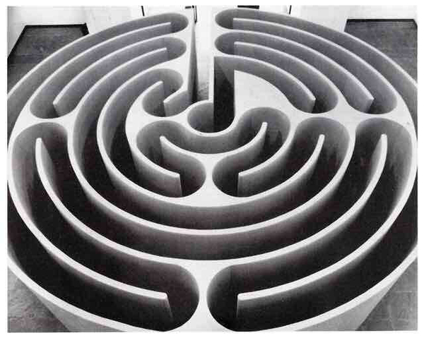 Robert Morris, Untitled (Labyrinth), ICA Philadelphia, 1974