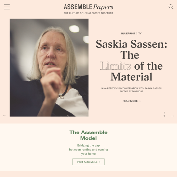 An online publication exploring small footprint living across art, design, architecture, urbanism, the environment & finance.