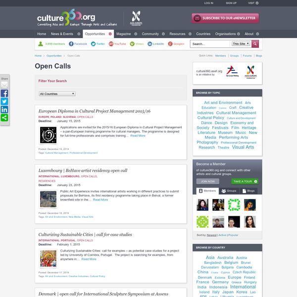 Open Calls - culture360.asef.org