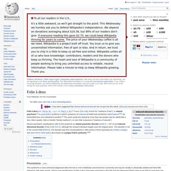Folie à deux - Wikipedia