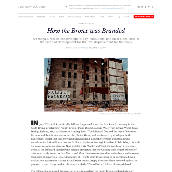 How the Bronx was Branded – The New Inquiry