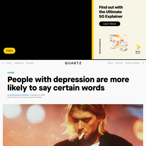 Depression warning signs: Pay attention to the words they use — Quartz