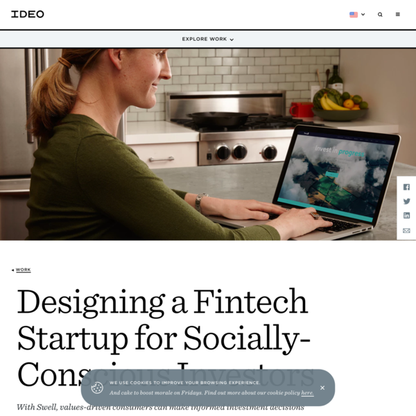 Designing a Fintech Startup for Socially-Conscious Investors