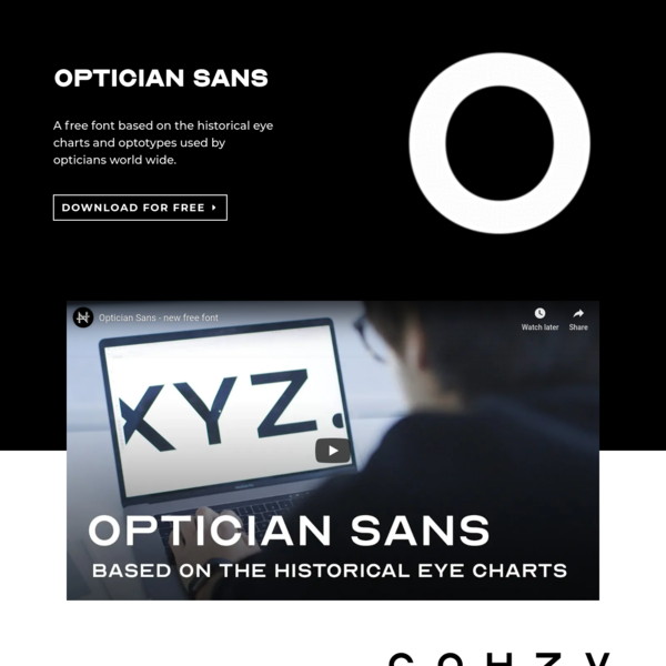 Optician Sans - Free font based on historical optotypes