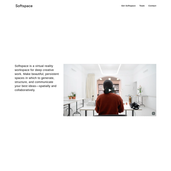 Softspace is a VR productivity app where designers and architects can collaborate in 3D.