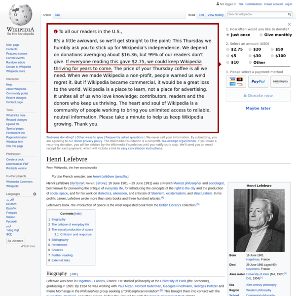Henri Lefebvre - Wikipedia