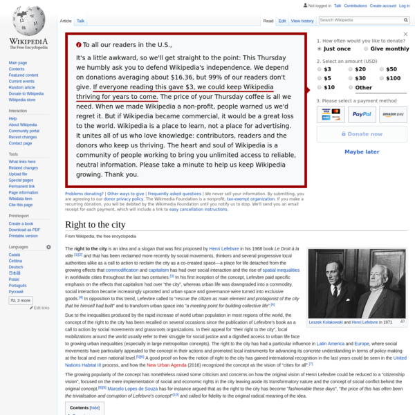 Right to the city - Wikipedia