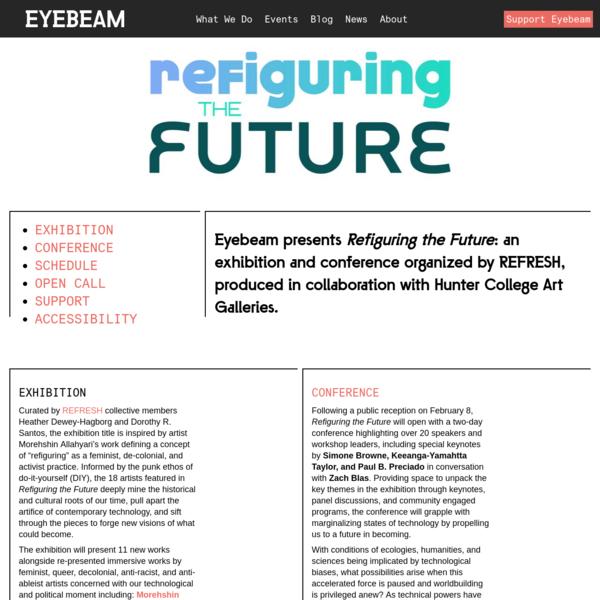Refiguring the Future   Eyebeam