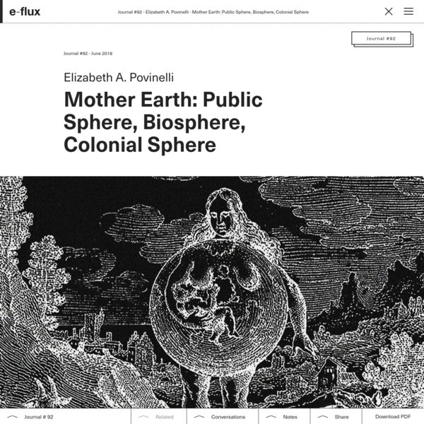 Mother Earth: Public Sphere, Biosphere, Colonial Sphere