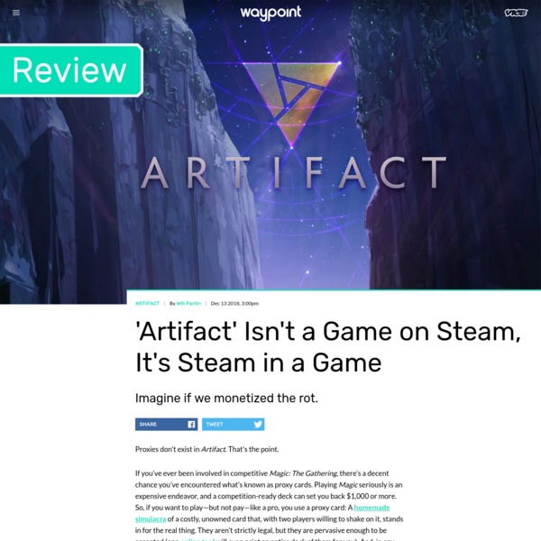 'Artifact' Isn't a Game on Steam, It's Steam in a Game