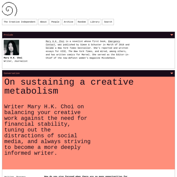 On sustaining a creative metabolism