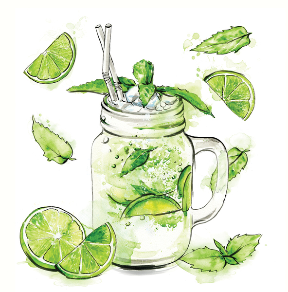 mavericks-cocktail-bar-illustrations-watercolor-graphic-mojito-watercolours-front-cover-illustrated-by-leona-beth.jpg