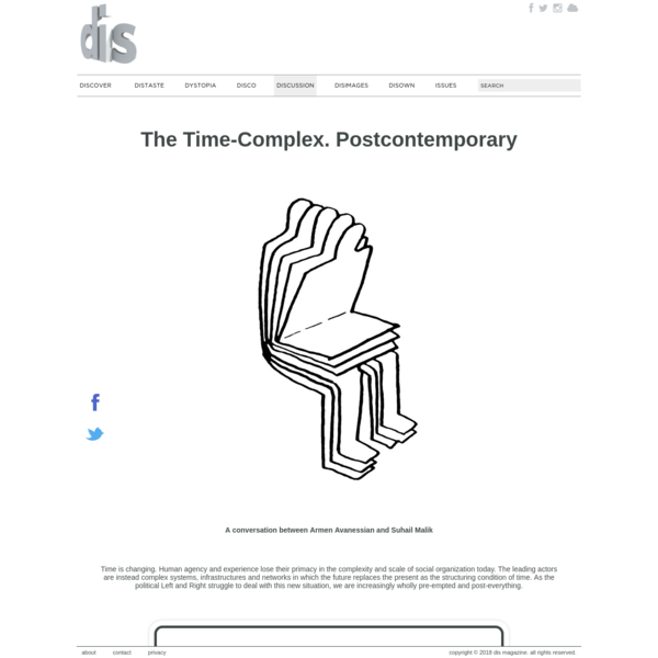The Time-Complex. Postcontemporary