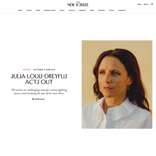 Julia Louis-Dreyfus Acts Out | The New Yorker