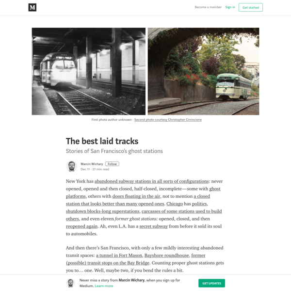 The best laid tracks – Marcin Wichary – Medium