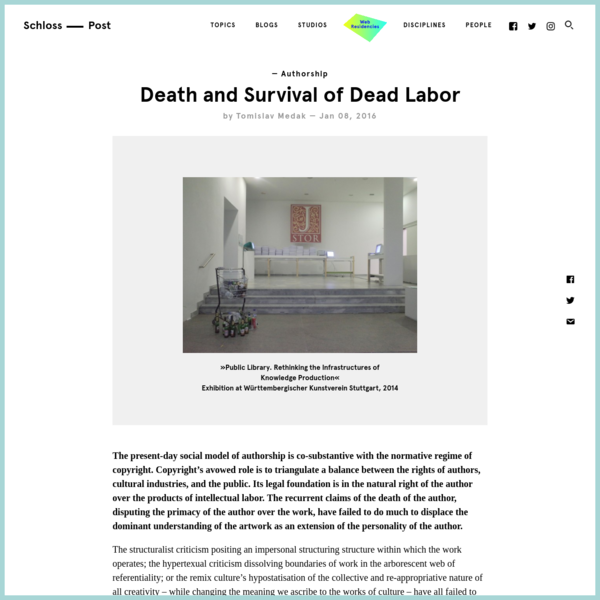 Death and Survival of Dead Labor | Akademie Schloss Solitude: Schlosspost