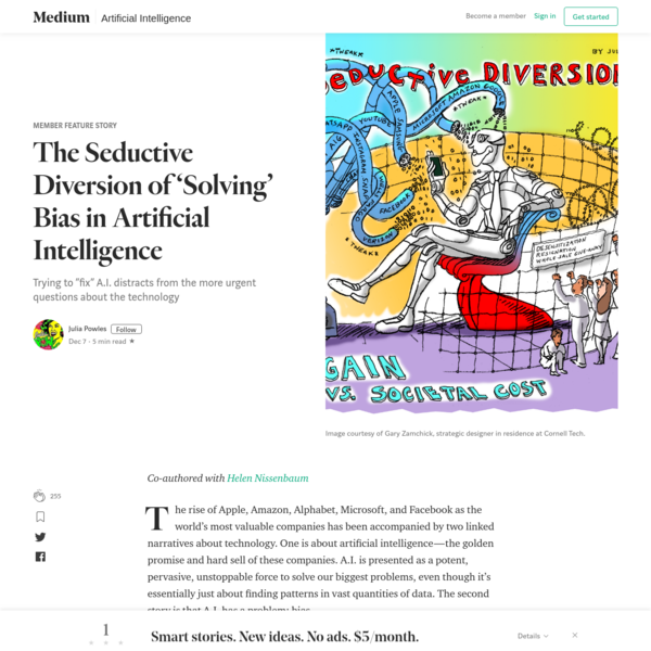 The Seductive Diversion of 'Solving' Bias in Artificial Intelligence